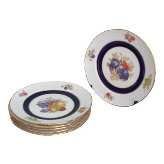 Hand-Painted Relief Plates - Set of 6