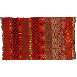 Vintage Berber Moroccan Tribal Rug - 5′5″ × 9′