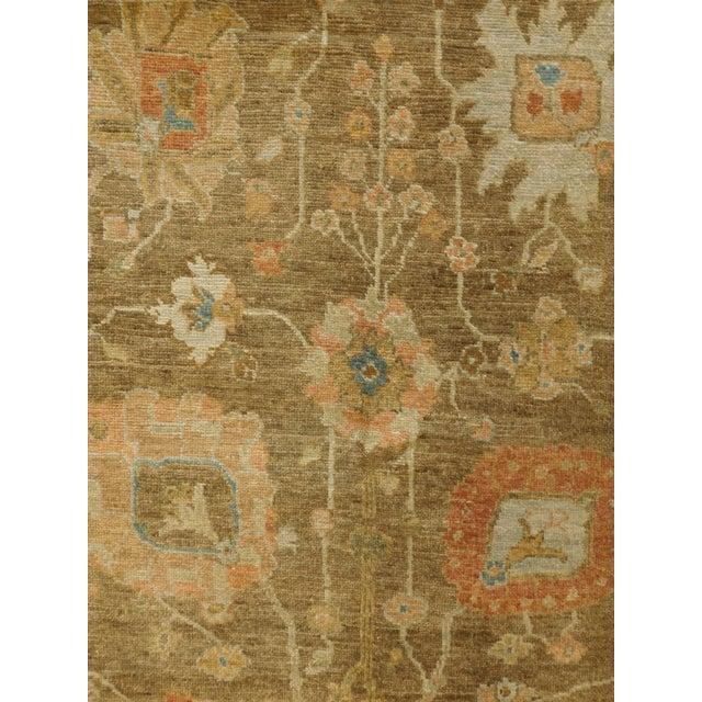 """Hand Knotted Indo-Ushak Floral Design Rug - 8'x 9'8"""" - Image 2 of 10"""
