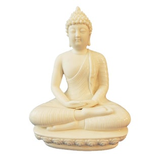 Blanc De Chine Porcelain Meditating Buddha