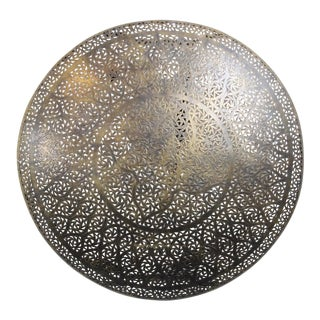 Brass Bronzed Disk Lantern Light