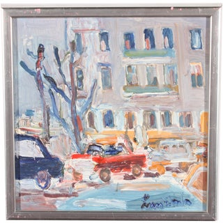 Downtown Original Oil Painting