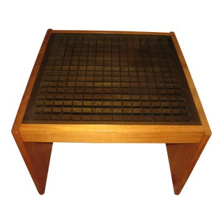 Mid-Century Modern Komfort Geometric Teak Coffee Table