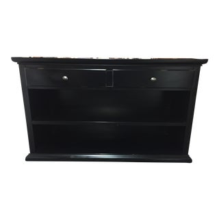 Pottery Barn Black Finished 2 Drawer Buffet