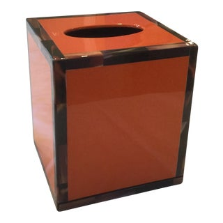 Orange Lacquer Tissue Box