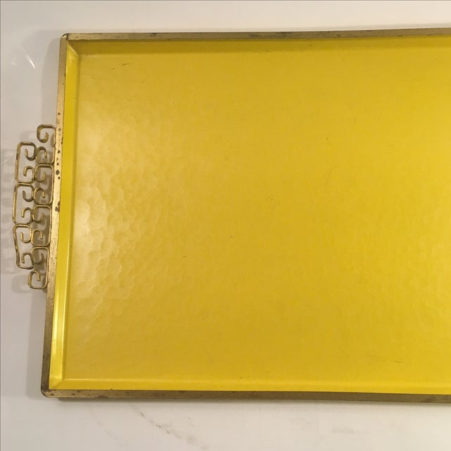 Image of Moire Glaze Kyes Yellow Rectangle Tray