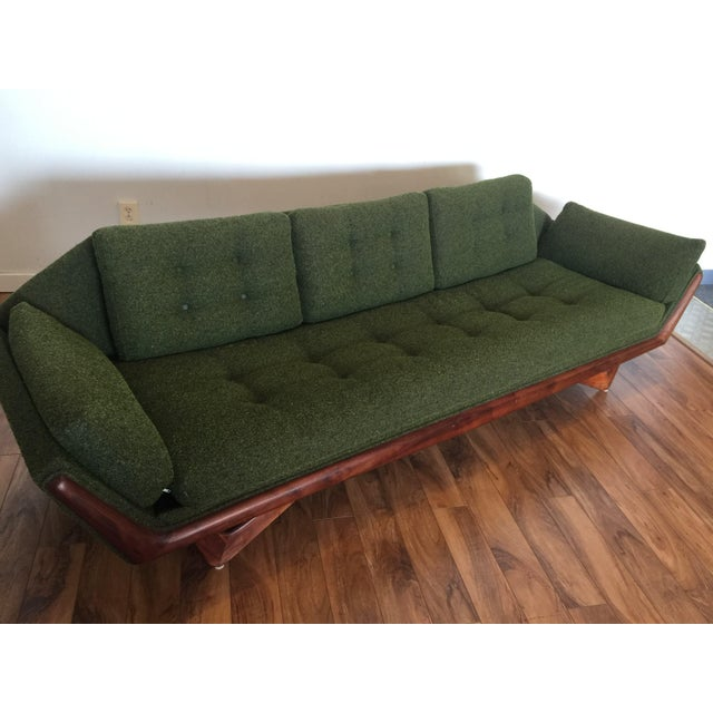Adrian Pearsall Craft Associates Mid-Century Gondola Sofa - Image 6 of 11