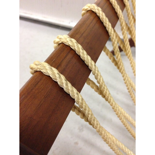 Image of Mid-Century Woven Rope Magazine Rack