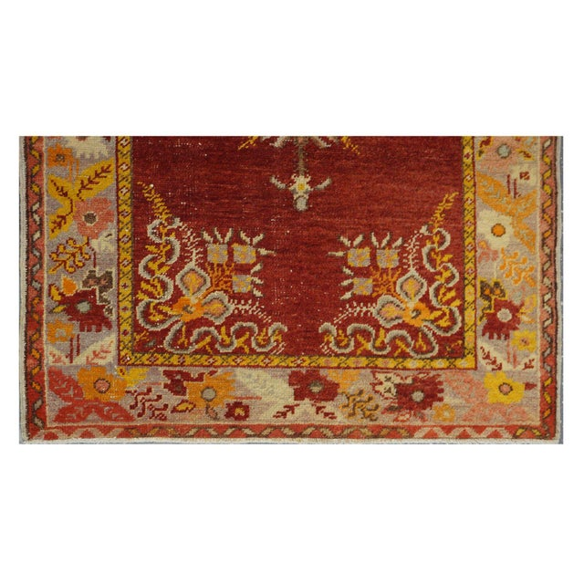 Vintage Turkish Oushak Rug - 3′2″ × 5′10″ - Image 3 of 4