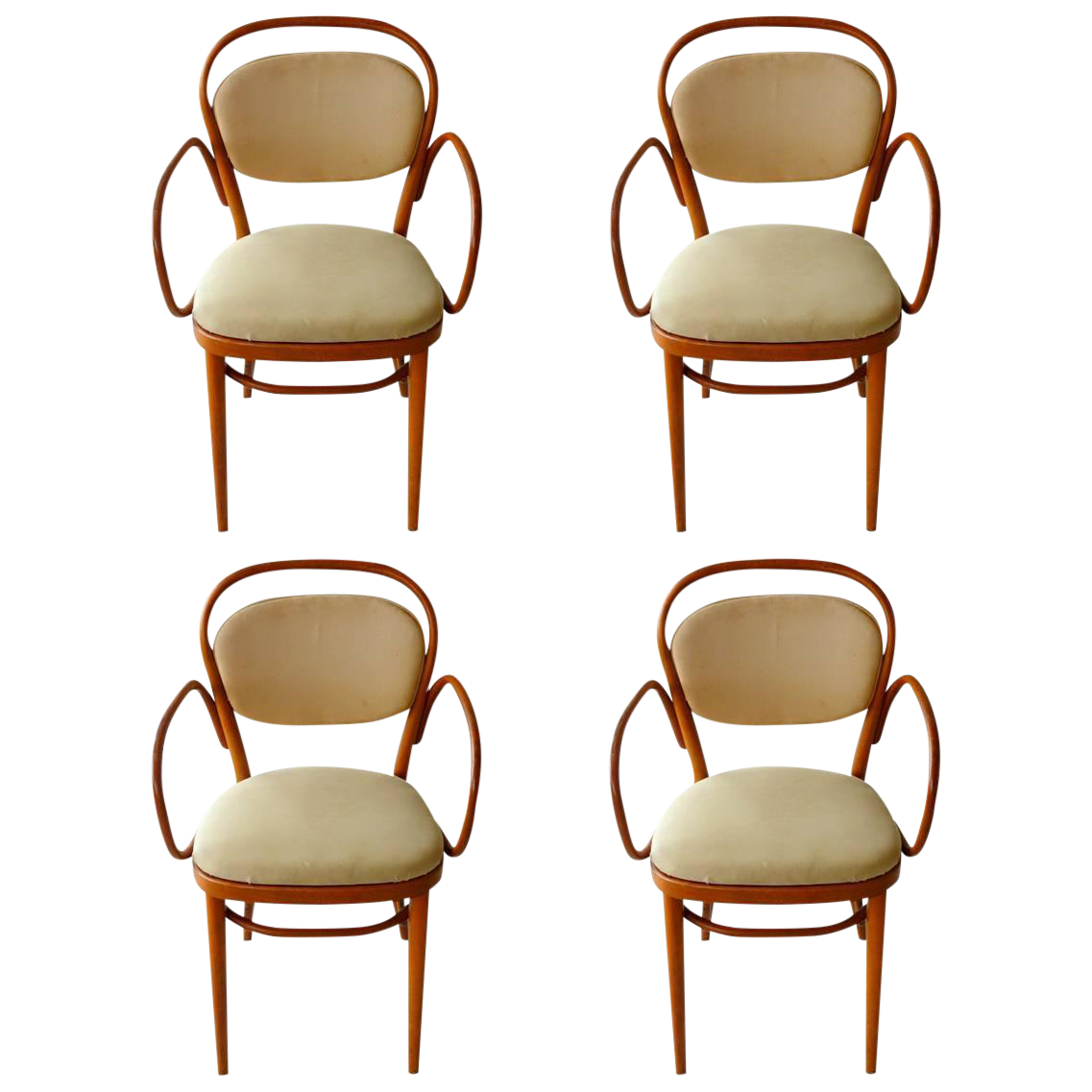 Michael Thonet Bentwood Dining Chairs   Set Of 4