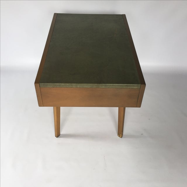 George Nelson Herman Miller Leather Top Side Table - Image 5 of 7