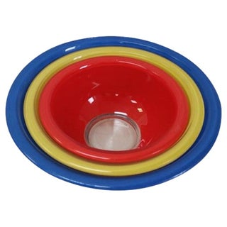 Nesting Primary Color Pyrex Bowls - Set of 3