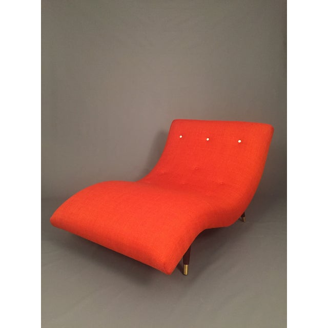 Adrian Pearsall Style Orange Wave Lounge Chaise - Image 3 of 11