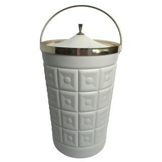 Vintage Hollywood Regency Lustreware Ice Bucket