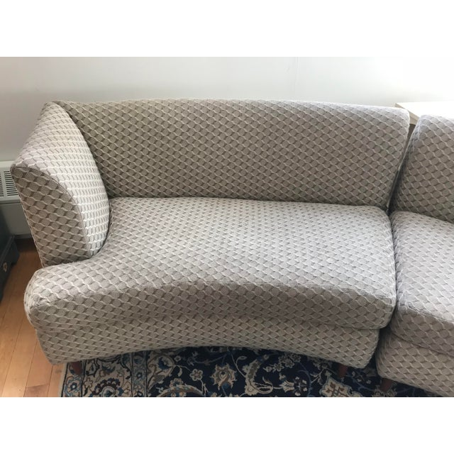 Curved Keller-Williams Vintage Mid Century Sectional Sofa - 3 Pieces - Image 6 of 9
