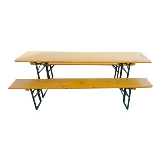 German Bavaria Brewery Beer Garden Table and Bench Set