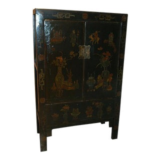 1880s Chinese Five Color Armoire