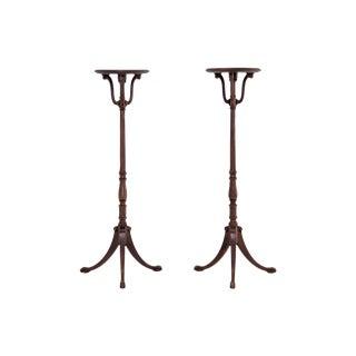 Mahogany Pedestal Stands - A Pair