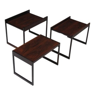 Johannes Andersen Danish Rosewood Nesting Side Tables