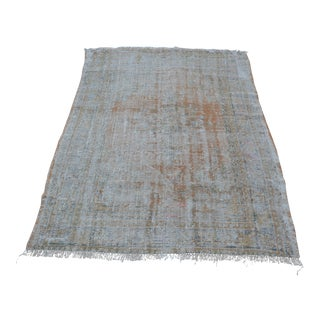 Traditional Handmade Turkish Wool Rug - 4′2″ × 5′10″