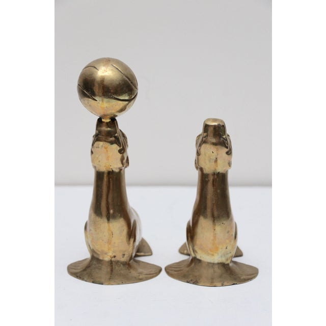 Image of Brass Seal Bookends - A Pair