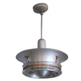Aluminium Ceiling Pendant with Neoclassical Accents