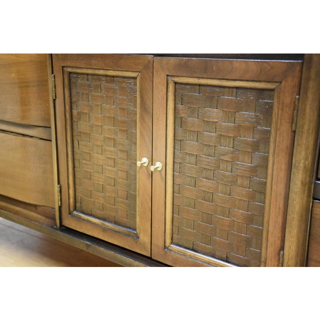 Mid-Century Walnut and Formica Credenza - Image 9 of 11