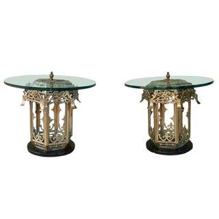 Pair of Asian Regency Pagoda Sidetables