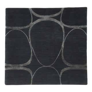Casalis Custom Silk & Wool Area Rug- 3′4″ × 3′4″