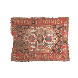 "Antique Malayer Square Rug - 3'4"" x 4'4"""
