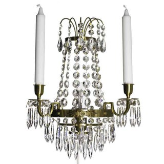 Nobel Cognac Crystal Sconce Chandelier