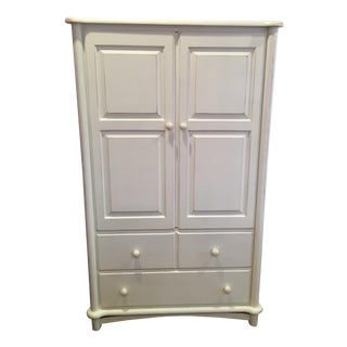 White 2 Drawer Armoire