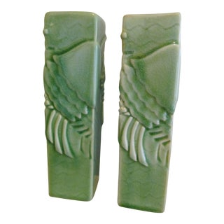 Global Views Art Deco Bud Vases - A Pair