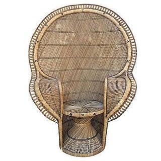 Queen Throne Peacock Chair