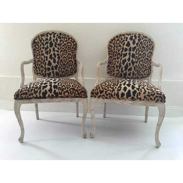 Italian Leopard Chairs - Pair - Image 3 of 6