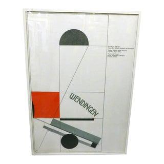 El Lissitzky, Italian Lithograph, Circa 1982