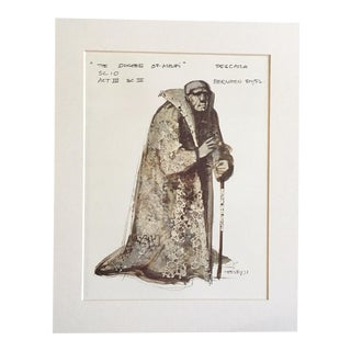 "Vintage Stratford Festival Design Folio, John Webster's ""The Duchess of Malfi"" Costume Print"