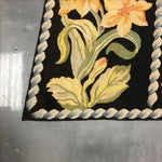 Image of Antique Needlepoint Flora Rug