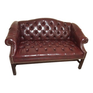 Ralph Lauren Leather Studded Love Seat