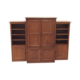 Shermag Traditional Armoire & Two Bookcases