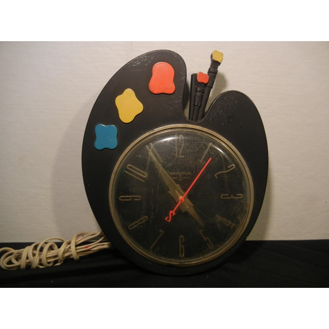 Image of Art Deco Paint Palette Clock