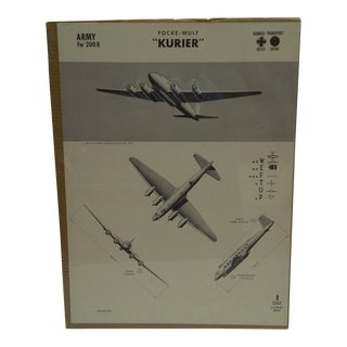 WWII Focke Wulf Kurier Aircraft Recognition Poster