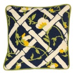 Image of Needlepoint Trellis Throw Pillow