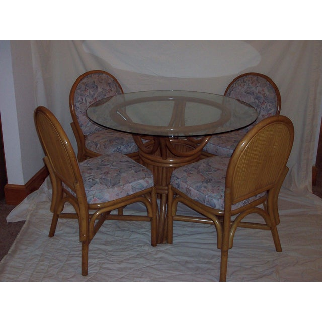Vintage Mid-Century Bentwood Bamboo Dining Set - Image 2 of 5
