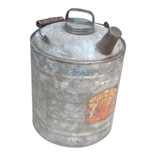 Vintage Industrial Motor Oil Can