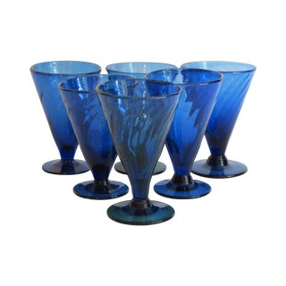 Cobalt Cocktail Glasses - Set of 6