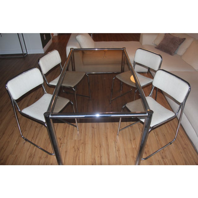 Milo Baughman Dining Set with Breuer Style Chairs - Image 2 of 9