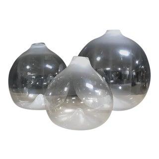 Large Water Drop Hand-Blown Glass Jugs - Set of 3