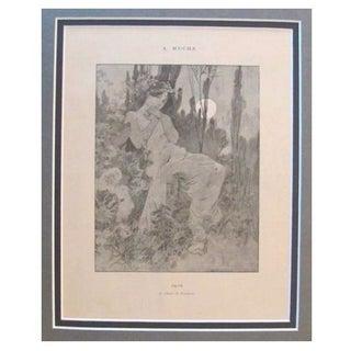 1899 Original Mucha Cocorico Illustration June