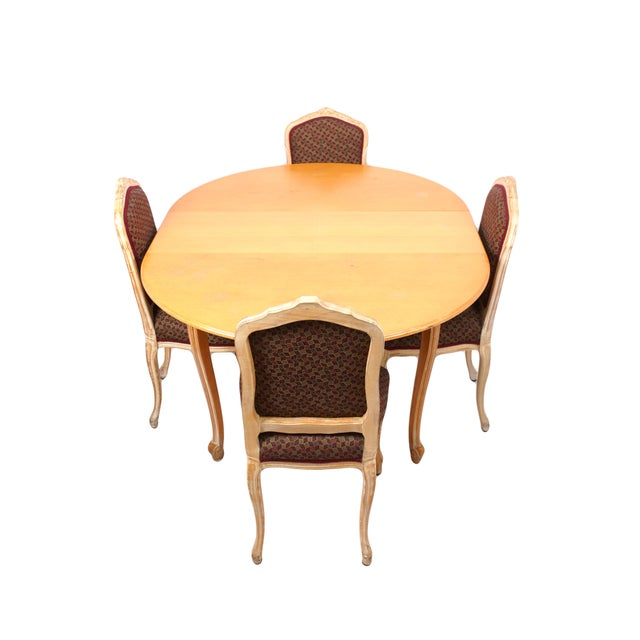 Image of French Provincial Dining Table & Four Chairs